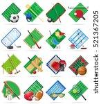 set court playground stadium...   Shutterstock .eps vector #521367205