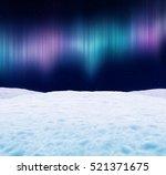 winter landscape at night.... | Shutterstock . vector #521371675