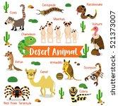 desert creature cartoon on... | Shutterstock .eps vector #521373007