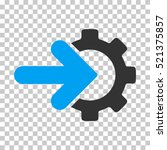 gear integration icon. vector... | Shutterstock .eps vector #521375857