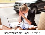 business girl depression  drama ... | Shutterstock . vector #521377444