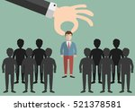 choosing the best candidate for ... | Shutterstock .eps vector #521378581