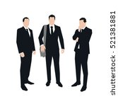 three business men in suit ... | Shutterstock .eps vector #521381881