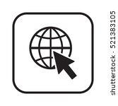 website  icon vector. flat...   Shutterstock .eps vector #521383105