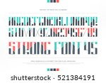 uppercase alphabet letters and... | Shutterstock .eps vector #521384191