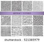 set of twelve hand drawn ink... | Shutterstock .eps vector #521385979