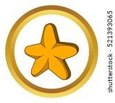 star vector icon in golden...