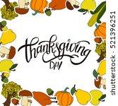 happy thanksgiving day... | Shutterstock .eps vector #521396251