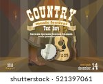 country festival horizontal... | Shutterstock .eps vector #521397061