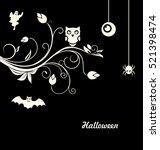 illustration halloween flourish ... | Shutterstock . vector #521398474