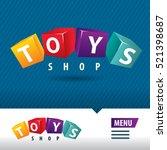 toys shop logo cube | Shutterstock .eps vector #521398687