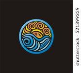 sea and sun. vector... | Shutterstock .eps vector #521399329