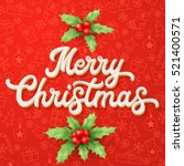 White 3d Xmas Lettering On Red...