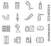 medications pharmaceutical... | Shutterstock .eps vector #521402014