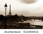 View Of Paris And Eiffel Tower...