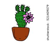 cactus.cactus on a white... | Shutterstock .eps vector #521409079