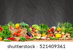 organic vegetables and fruits | Shutterstock . vector #521409361