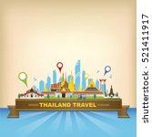 vector bangkok thailand... | Shutterstock .eps vector #521411917