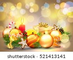 christmas. background with... | Shutterstock .eps vector #521413141