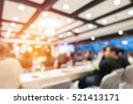 abstract blurred people in... | Shutterstock . vector #521413171