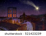 Bethlehem Town At Night  With...