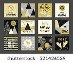 set of artistic creative merry... | Shutterstock .eps vector #521426539