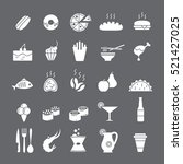 white icons with food | Shutterstock .eps vector #521427025