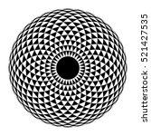 Geometric Eye Mandala. Vector...