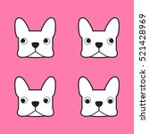 french bulldog vector | Shutterstock .eps vector #521428969