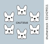 french bulldog vector cautious | Shutterstock .eps vector #521429011