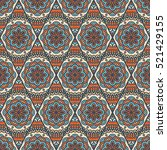ethnic floral seamless pattern | Shutterstock .eps vector #521429155