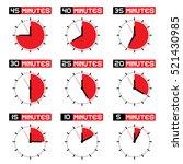 countdown stopwatch set  | Shutterstock .eps vector #521430985