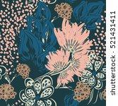 floral seamless pattern. eps10 | Shutterstock .eps vector #521431411