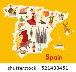 spain map vector. illustrated...