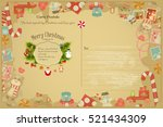 christmas and new years... | Shutterstock .eps vector #521434309
