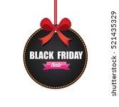 vector black friday sales tag... | Shutterstock .eps vector #521435329