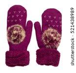 knitted mittens.  | Shutterstock . vector #521438989