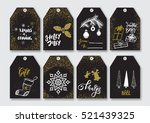 christmas gift tags set. | Shutterstock .eps vector #521439325