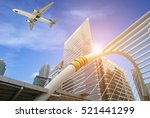 business modern tower with... | Shutterstock . vector #521441299