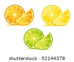 set of citrus fruit   lemon ...