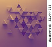 abstract 3d background... | Shutterstock . vector #521444335