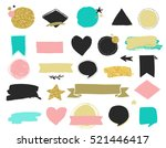fashion patch badges and... | Shutterstock .eps vector #521446417