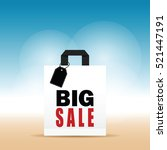 paper bag white with big sale... | Shutterstock .eps vector #521447191