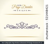 new calligraphic page divider... | Shutterstock .eps vector #521448421