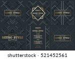 vector frame for text modern... | Shutterstock .eps vector #521452561