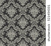 decorative dark floral... | Shutterstock .eps vector #521454331