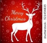 merry christmas reindeer on...   Shutterstock .eps vector #521454835