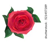 Stock vector abstract red rose isolated object vector 521457289