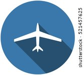 airplane icon vector flat... | Shutterstock .eps vector #521457625