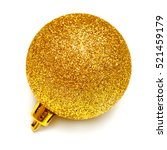yellow christmas ball isolated... | Shutterstock . vector #521459179